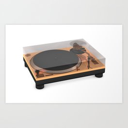 Golden Turntable Art Print