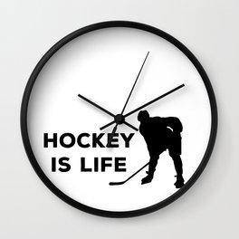 Hockey Is Life Wall Clock