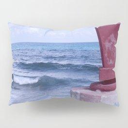 Winter Sea, Island of Women, Isla de Mujeres, Cancun, Mexico Pillow Sham