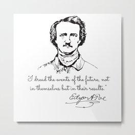 Rare Edgar Allan Poe Metal Print
