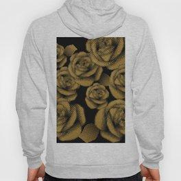 Gold Roses on Black Hoody