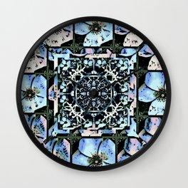 Cherokee Rose Pattern BG 1 Wall Clock