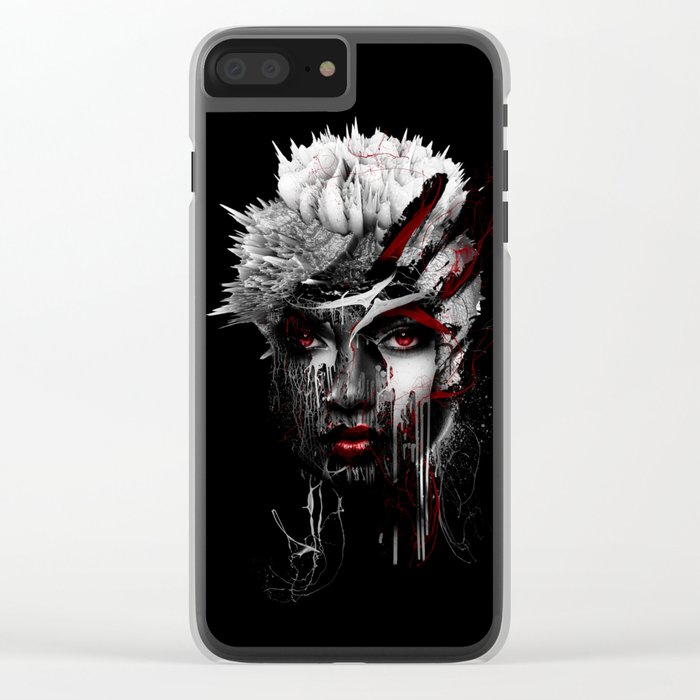 Red Eyes Clear iPhone Case