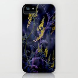 purple and yellow iPhone Case