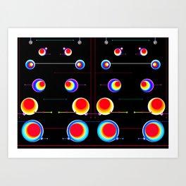 Tucan Orbs Full Court. Art Print