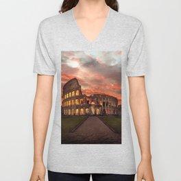 Colosseum - Rome  Unisex V-Neck