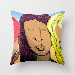Sistahs Art Digital Throw Pillow