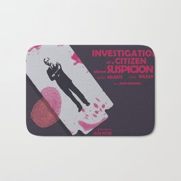 Investigation of a citizen above suspicion, italian movie, Elio Petri, Gian Maria Volontè Bath Mat