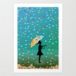 It's Raining Flowers Art Print