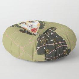 flexible girl Floor Pillow