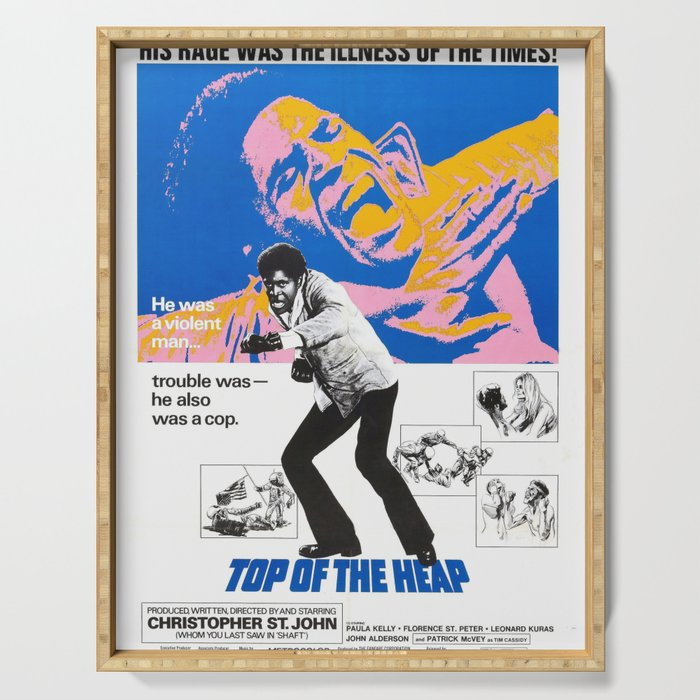 Vintage American Blaxploitation film poster -Top of the Heap (1972) Serving Tray