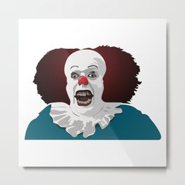 Cool party Clown Face Metal Print