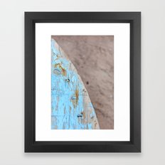 Turquoise Beach Wood I Framed Art Print