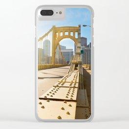 Seventh Street Bridge To Pittsburgh, Pennsylvania Clear iPhone Case