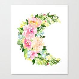 Crescent Bloom Canvas Print