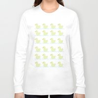 ducks Long Sleeve T-shirts featuring Ducks  by Art à la Mutuz