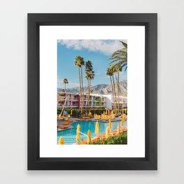 Palm Springs Saguaro Framed Art Print