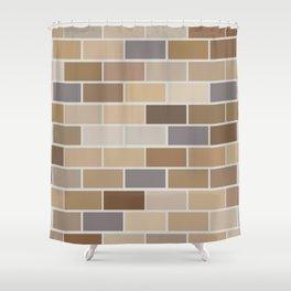 Kinda Brickish Shower Curtain