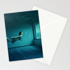 swimming girl Stationery Cards