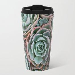 Pink & Green Succulent Garden Travel Mug