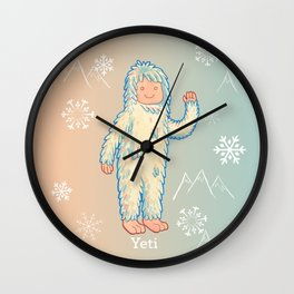 Yeti - Cute Cryptid Wall Clock