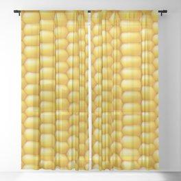Corn Cob Background Sheer Curtain