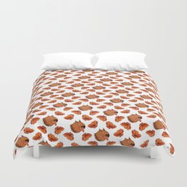 Pups and poppies Duvet Cover
