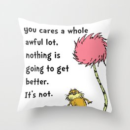 Dr Seuss Lorax Throw Pillow