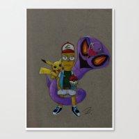 simpson Canvas Prints featuring Bart Simpson  by Pursuit_Art