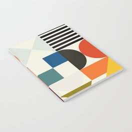 mid century retro shapes geometric Notebook