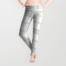 The Big Biscotti - 2010 Winning Fantasy Baseball Roster Leggings