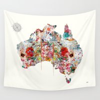 australia Wall Tapestries featuring Australia by bri.buckley