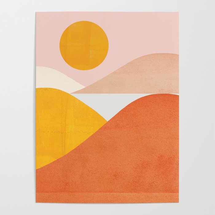 Abstraction_Mountains Poster