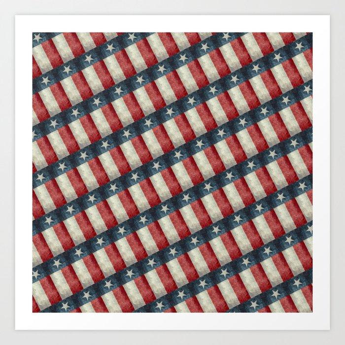 Vintage Texas flag pattern Art Print