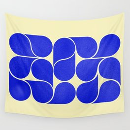 Blue mid-century shapes no8 Wall Tapestry