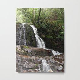 Tennessee Waterfall Smoky Mountains Color Photo Metal Print