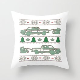 Trucker Christmas Throw Pillow