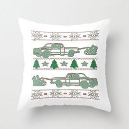 Trucker Christmas Throw Pillow