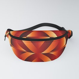 Waves and triangles in maroon Fanny Pack