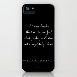 Not completely alone - Will Herondale BLACK iPhone Case