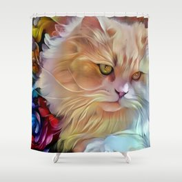 Pretty Kitty Shower Curtain