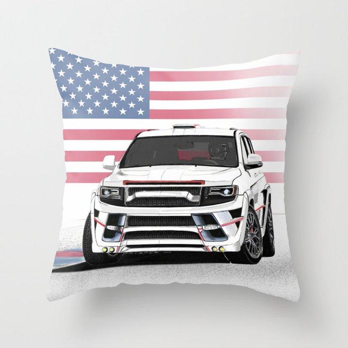 Jeep Cherokee SRT Artrace body-kit Throw Pillow