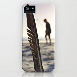Feather on the Beach iPhone Case