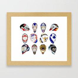 12 Masks Framed Art Print