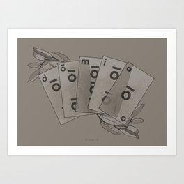 Domio Deck of Cards Art Print