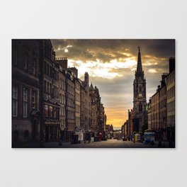 Royal Mile Sunrise in Edinburgh, Scotland Canvas Print