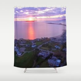 Napatree Point Sunset - Watch Hill - Westerly, Rhode Island Shower Curtain