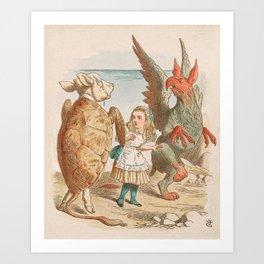 Scene from Alice in Wonderland Art Print