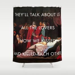 The Sobering Reconciliation Shower Curtain