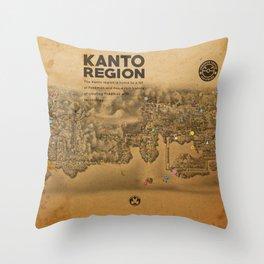 Kanto Region Map Throw Pillow
